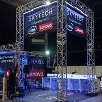 SKYTECH Parodos zonos įrengimas @ GameON 2015