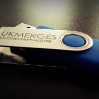 Lazeriu graviruota USB atmintinė