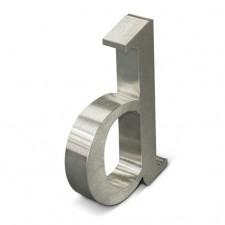 Raidė pagaminta iš raižyto aliuminio