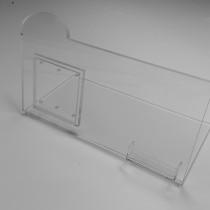 Demo stovelis INTEL NUC kompiuteriui iš 10 mm storio PLEXIGLAS® stiklo