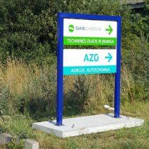 GASCHEMA ir AZO reklaminis stendas @ Klaipėda