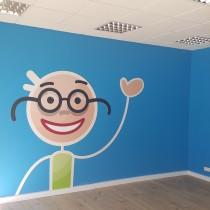 Logotipas ant sienos @ Moment Credit Klaipėdoje