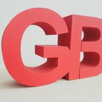 Polistirolo raidės GB