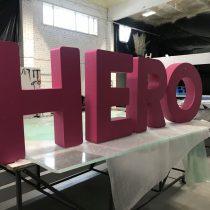 Raidės iš putplasčio - HERO