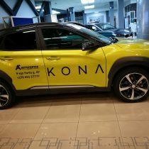 Reklama ant automobilių - Hyundai KONA lipdukų klijavimas