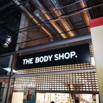 THE BODY SHOP šviesdėžės gamyba su inkrustacija