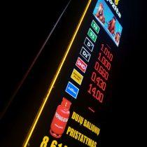 Jozita degalinės kainų pilonas su LED ekranu @ Tauragė